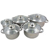 10Pcs Stainless Steel Pot With Glass Lid Cover
