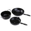 Ovela 4 Piece Stone Quartz Coated Non-Stick Cookware Set