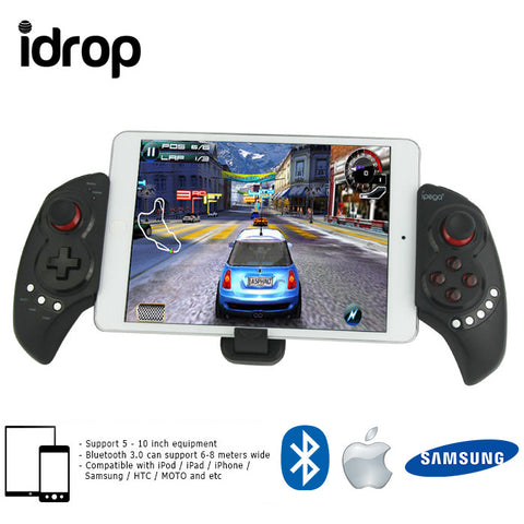 idrop Telescopic Wireless Bluetooth Game Controller Gamepad for iPhone iPod iPad iOS System, Samsung Galaxy Note HTC LG Android Tablet PC