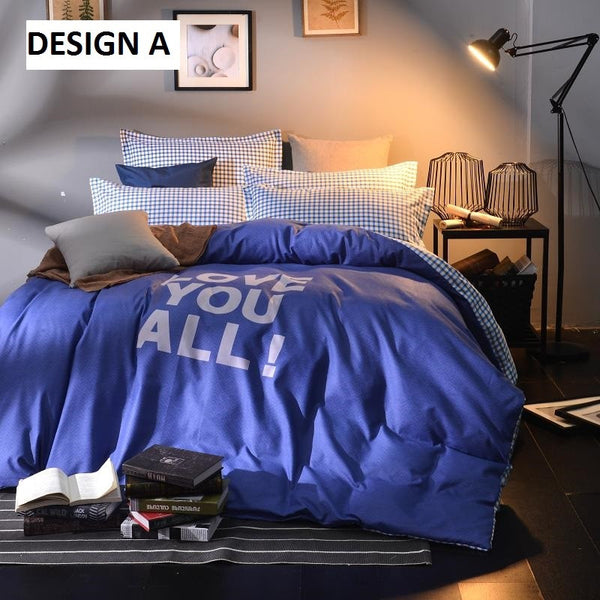 500-TC Fitted Bedsheet (LOVE YOU ALL)