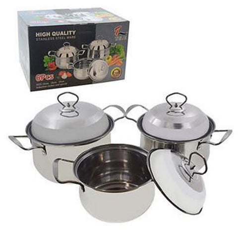 Set Of 3 Stainless Steel 16 18 20cm Pot (Tailai)