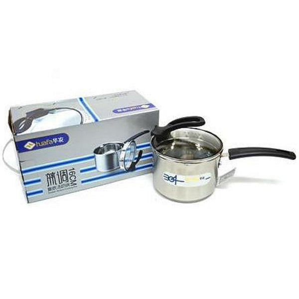 16cm Blue Tone Stainless Steel Soup Cooking Pot