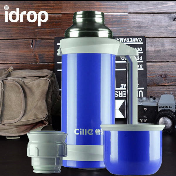 idrop Stainless Steel Thermos Vacuum Insulated Travel Tumbler Bottle 1000ML