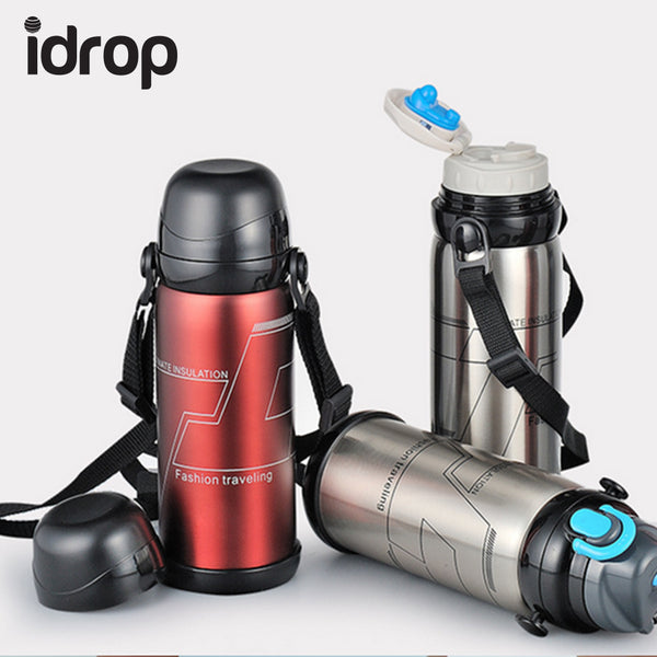 idrop Stainless Steel Travel Outdoor Sport Insulation  Vacuum Bottle [Send by randomly color]