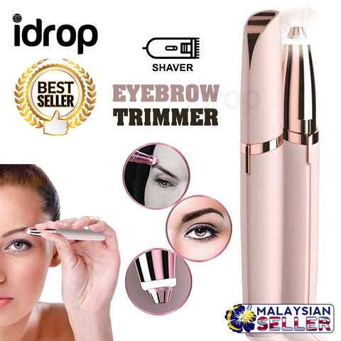 idrop Portable Electric Painless Eyebrow Trimmer Hair Remover New Flawless Brows