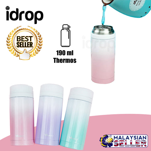 idrop 190ml Trendy Portable Stainless Steel Thermos Flask (Color Randomly Sent)