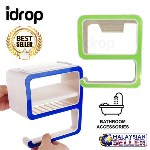 idrop Creative Number-9 Shape Bathroom Storage Holders Racks Shelves Accessories
