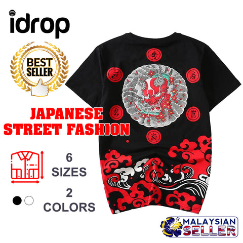 idrop TOLLO - Oni Demon Painted-Shirt Japanese Street Fashion
