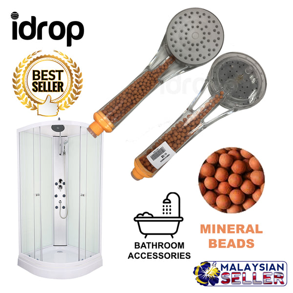 idrop Shower Head Sprayer With Mineral Beads Bathroom Accessories