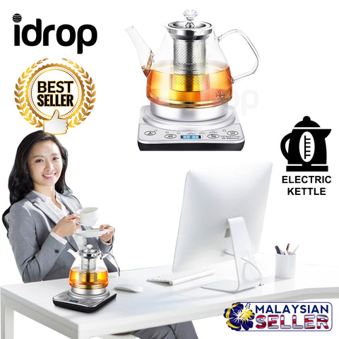 idrop 1.0L Stainless Steel Multipurpose Electric Kettle Tea Maker Health Pot Boiler With Filter