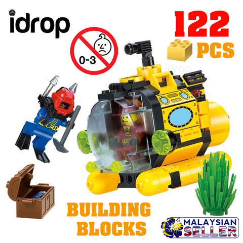 idrop ENLIGHTEN - 122 Pcs Submarine Pirate Treasure Hunt Building Block Brick Compatible with Lego