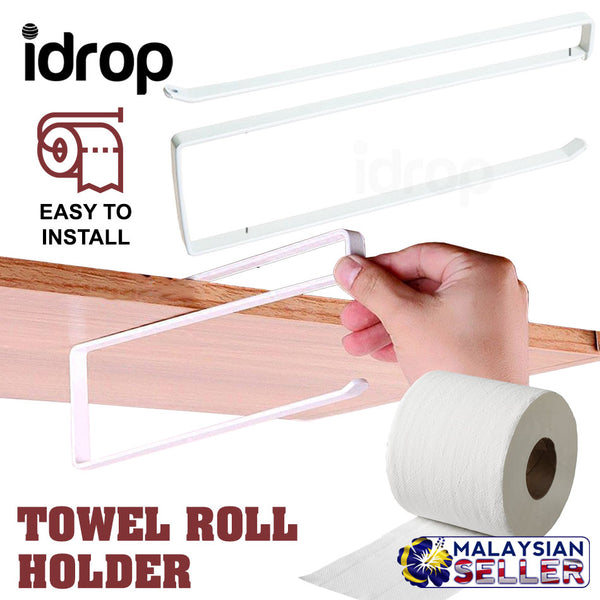 idrop Paper Towel Roll Holder Dispenser Cabinet Cupboard Under Shelf Storage Rack [ ZT-3119 ]