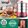 idrop 24cm 3Layer Multifunction Stainless Steel Electric Steamer Cooker