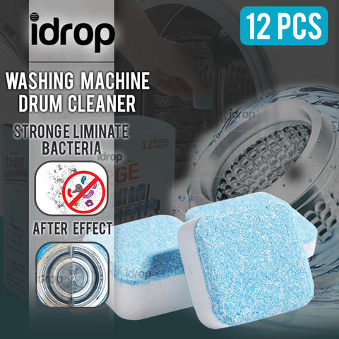 idrop Fast-Dissolving Washing Machine Drum Cleaner Tablet [ 12pcs per Box ]
