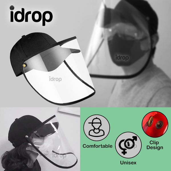 idrop Anti-Spitting Comfortable Protective Cap with Transparent Safety Face Cover [ Pre-Order ]