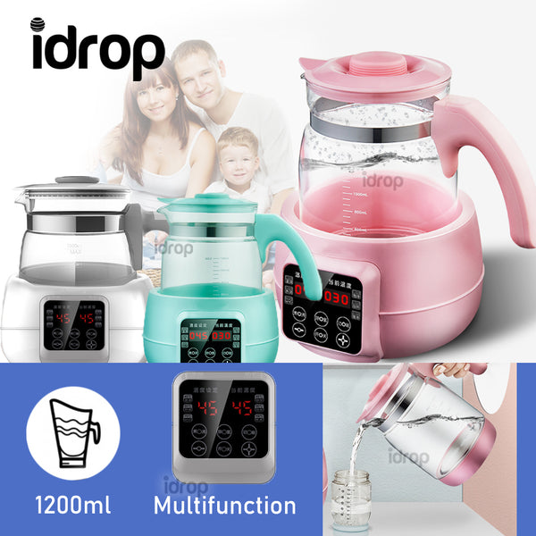 idrop 1200ml Multifunction Electric Temperature Control Glass Health Tea Kettle