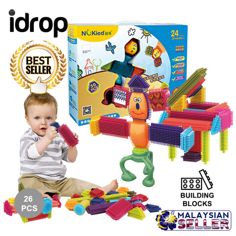 idrop 26 Pcs Colorful Creative Puzzle Building Block Toy Set For Kids Children