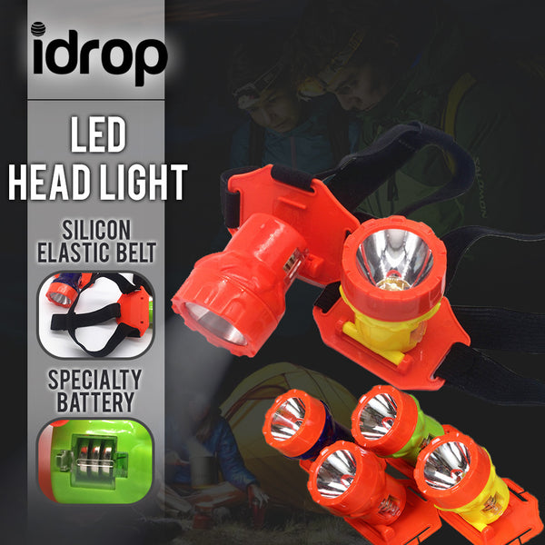 idrop Mini Durable Weight LED Headlamp [ 1pc ] for Running, Camping, Fishing, Walking, Jogging