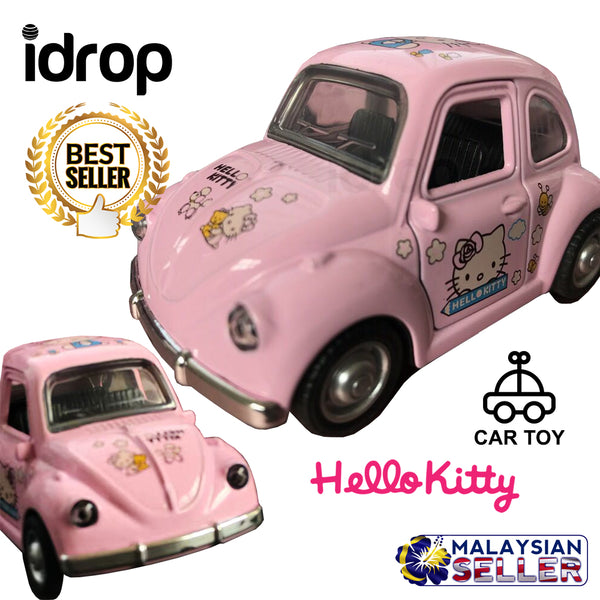 idrop Pink Hello Kitty Cartoon Beetle Car Toy For Kids And Children