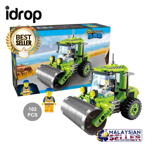 idrop 102 Pcs City Road Builder Repair Green Creative Building Block Toy Set For Kids Children
