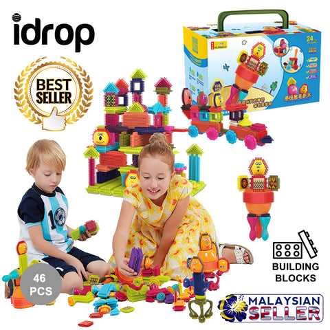 idrop 46 Pcs Colorful Creative Puzzle Building Block Toy Set For Kids Children