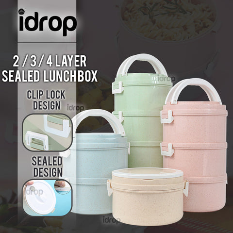 idrop Multipurpose 2 / 3 / 4 Layer Sealed Lunch Box Container for Kids and Adults