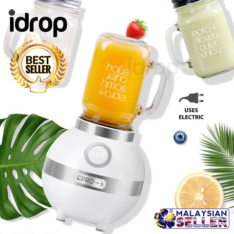 idrop Automatic Electric Portable Citrus And Fruit Juicer Blender Mixer With Glass