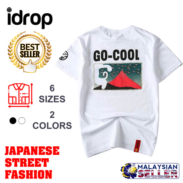 idrop TOLLO - 'Go-Cool' Painted Sukajan T-Shirt Japanese Street Fashion