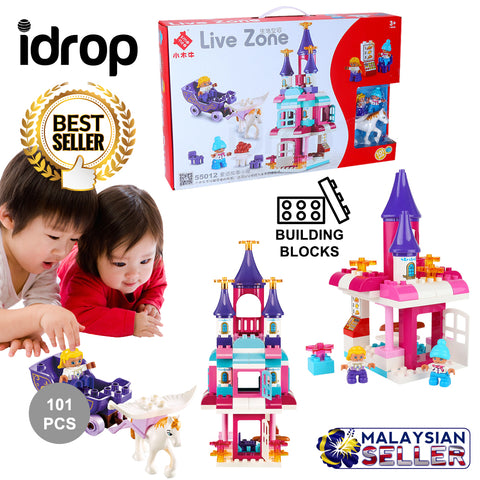 idrop 101 Pcs Fairy Tale Castle Colorful Creative Building Block Toy Set For Kids Children