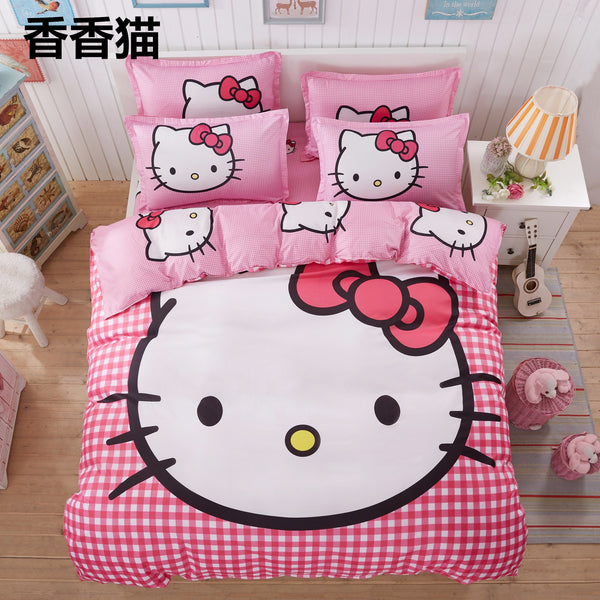 500-TC Cartoon Fitted Bed Sheet Set