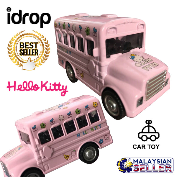 idrop Pink Hello Kitty Cartoon Car Minibus Toy For Kids And Children