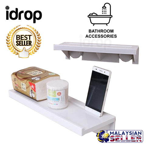 idrop Suction Cup Bathroom Storage Shower Shelf Holder Rack Organizer