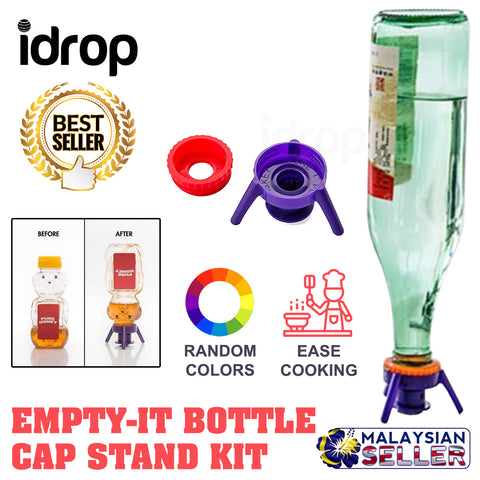 idrop FLIP-IT - Leakproof Inverted Caps Empty-It Bottle Cap Stand Kit