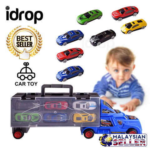 idrop 6 Pcs Car Toy Set With Storage Truck