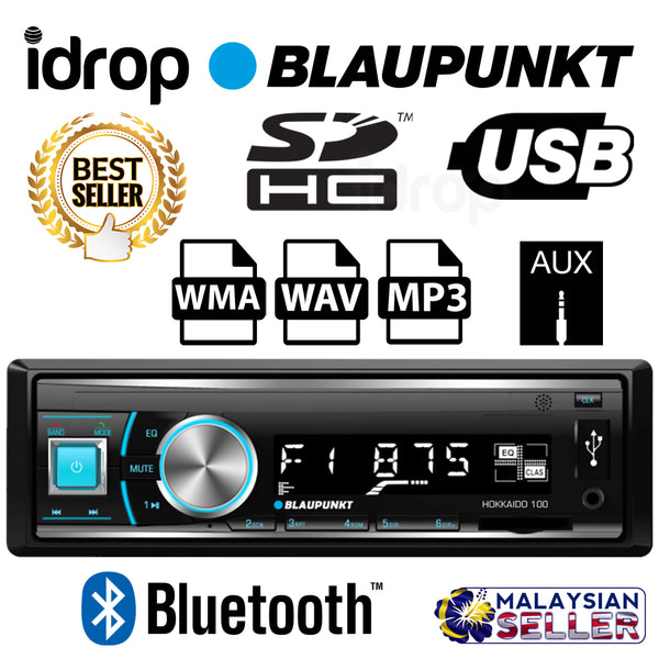 idrop Blaupunkt Hokkaido 100 Car DVR Multimedia Player With Bluetooth USB SDHC AUX MP3 WMA
