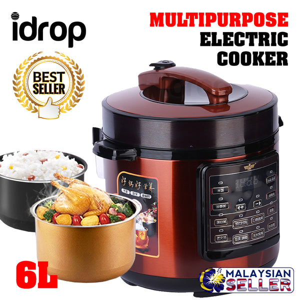 idrop XIAOBAWANG - 6L Multipurpose Smart Electric Rice Cooker
