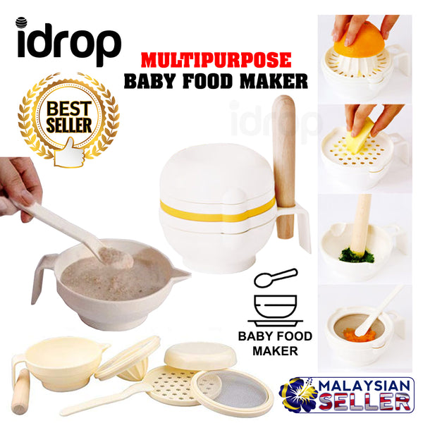 idrop 1 Set 7 Pcs Baby Food Maker Tool Food Making Set