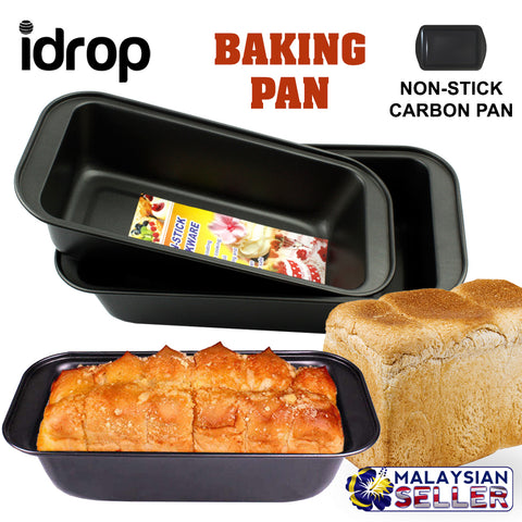 idrop Non-Stick Rectangle Carbon Steel Bakeware Oven Toast Loaf Baking Pan