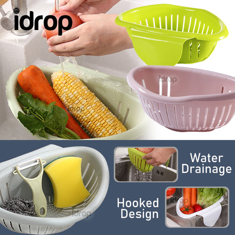 idrop Semicircle Multifunctional Kitchen Sink Mount Washing Storage Basket