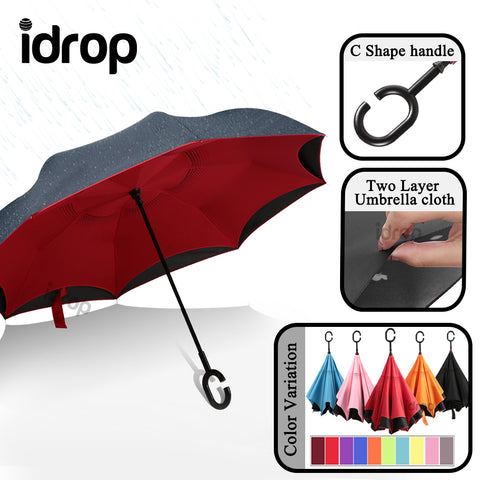 idrop Multifunction Windproof Double-Sided Reversible Folding Inverted Umbrella