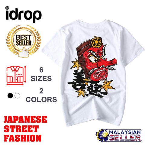 idrop TOLLO - Tengu King Design Painted Sukajan T-Shirt Japanese Street Fashion