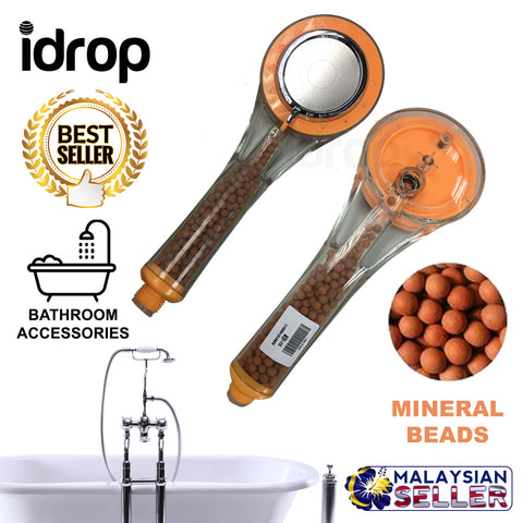 idrop Water Saving Shower Head With Mineral Beads Bathroom Accessories