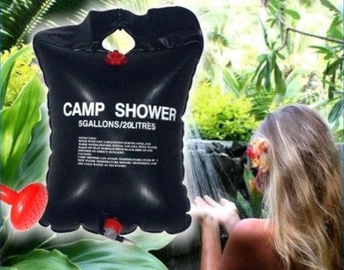 20L Solar Heated Camp Shower Bag Outdoor Shower Water Bag for Camping Hiking