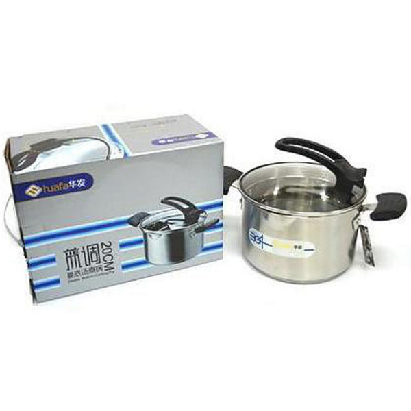 20cm Blue Tone Stainless Steel Soup Cooking Pot