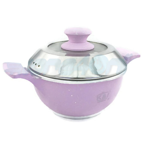 20cm K&I Casserole With Glass Lid - Pink