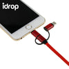 idrop 3 in 1 USB Type- C Charger Adaptor Cable Sync Date Cord for iPhone Android Phone