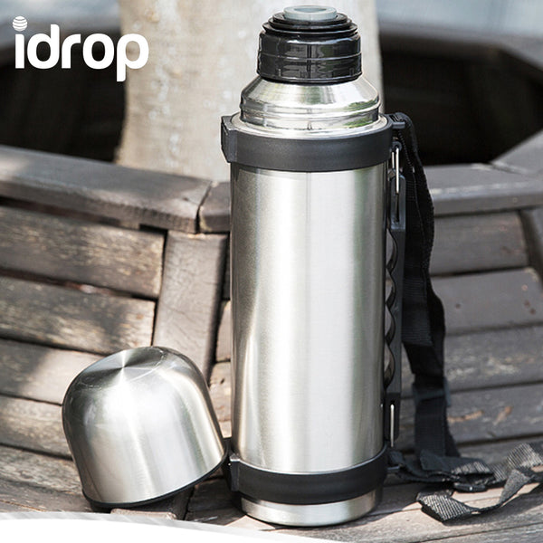 idrop Stainless Steel Double-wall Heat & Cold Preservation Vacuum Travel Bottle