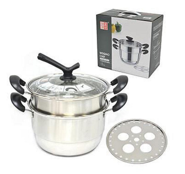 Chinese Type Kitchen Soup Steamer Pot - Double Layer