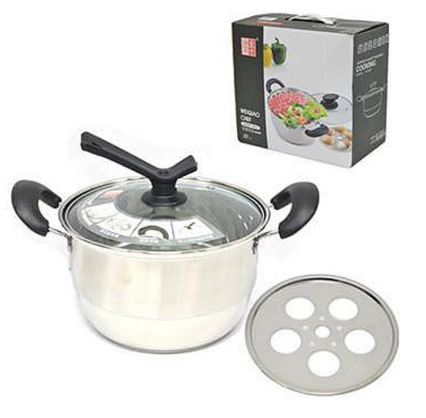Chinese Type Kitchen Soup Steamer Pot - Single Layer