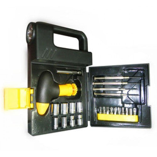 24PCS Flashlight Tool Box